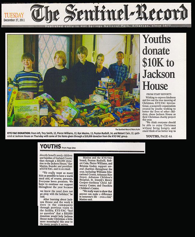 Youth Donates $10K