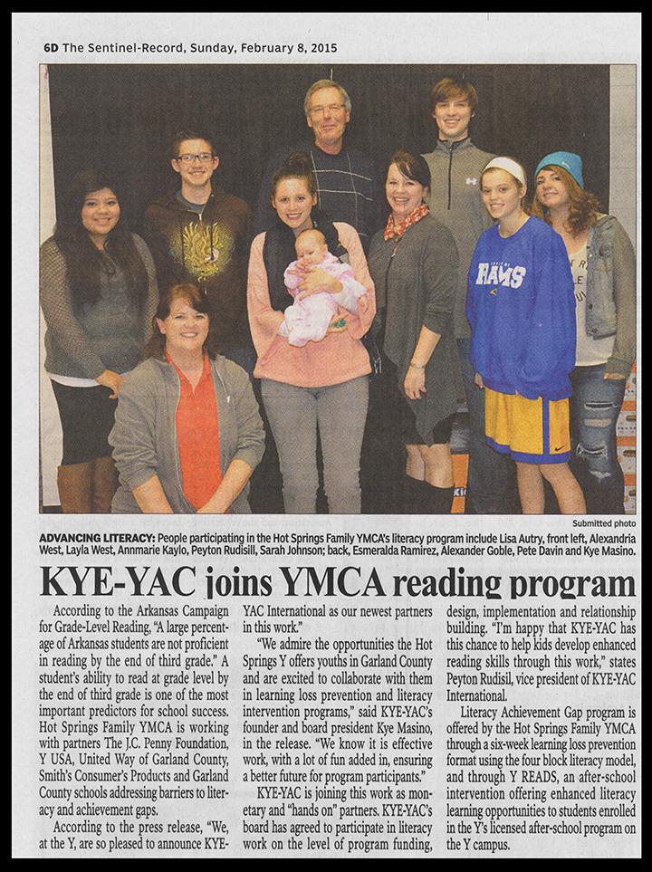 KYE-YAC joins YMCA Reading Program