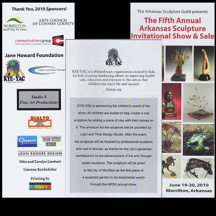 Kyeyac Sponsors the Childeren's events at  5th annual Ar Sculpture Show