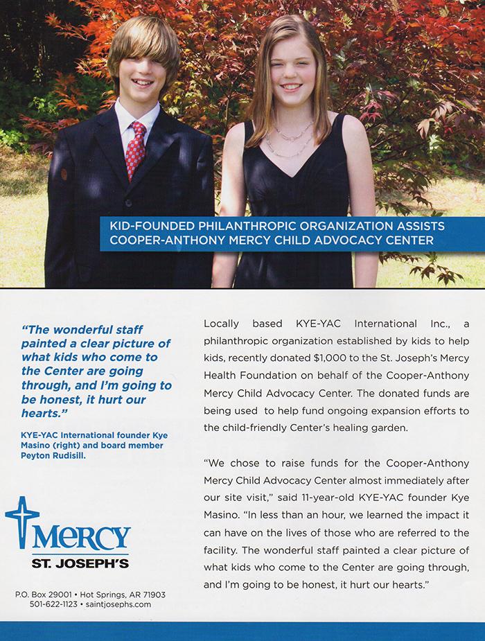 Kyeyac donates 1K to Mercy Health Foundation