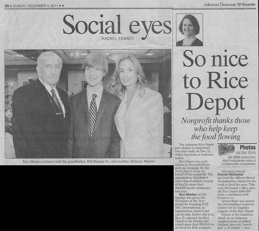 newspaper rice depot